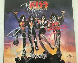 KISS DESTROYER Record Album Autographed Signed by Ace Peter Paul Gene Aucoin