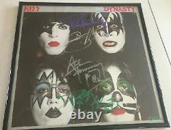 KISS Dynasty Record Album Autographed Signed by Ace Peter Paul Gene 79 Aucoin
