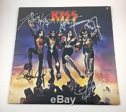 KISS Signed Autographed Gene Simmons Paul Stanley Ace Criss Destroyer Album COA