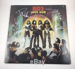 KISS Signed Autographed Gene Simmons Paul Stanley Ace Criss Love Gun Album COA