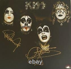 KISS Signed Vinyl Gene Simmons Paul Stanley Autographed Album (Ace Criss) Proof