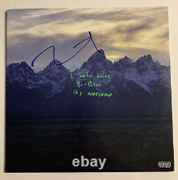 Kanye West Signed Vinyl Beckett COA Ye Kids See Ghosts Album Record BAS Yeezy