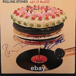 Keith Richards & Ronnie The Rolling Stones Signed Autograph Record JSA Album