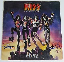 Ken Kelly KISS Signed Autograph Auto Destroyer Album Vinyl Record LP
