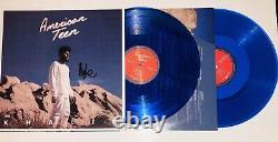 Khalid Hand Signed Blue Lp Vinyl Album American Teen With Jsa Coa