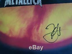 Kirk Hammett Metallica Signed Autographed Reload Vinyl Record Album Cover Proof