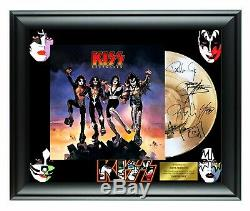 Kiss Autographed Destroyer Album LP Gold Record Award