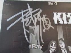 Kiss Signed 1975 Album Lp Record Simmons Stanley Frehley Criss Rare