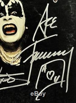 Kiss signed album gene simmons paul stanley ace frehley peter criss group auto
