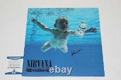 Krist Novoselic Signed Nirvana'nevermind' Vinyl Record Album Lp Beckett Coa Bas