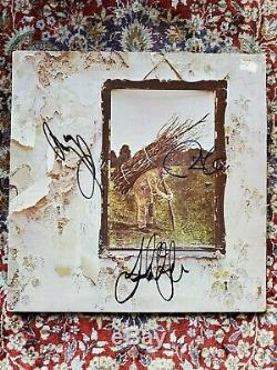 LED ZEPPELIN IV PAGE PLANT JONES SIGNED STAIRWAY TO HEAVEN ALBUM WithCOA