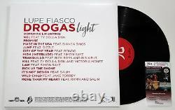LUPE FIASCO SIGNED DROGAS LIGHT 12 2x LP VINYL RECORD ALBUM AUTOGRAPHED JSA COA