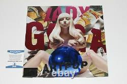 Lady Gaga Signed'artpop' Album Vinyl Record Lp Beckett Coa Bas The Fame Joanne