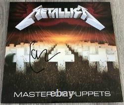 Lars Ulrich Signed Autograph Metallica Master Of Puppets Vinyl Album Exact Proof