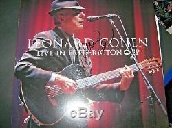 Leonard Cohen R. I. P Signed Live At Fredericton Vinyl Record Album Legend Icon