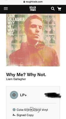 Liam Gallagher AUTOGRAPHED SIGNED Why Me Why Not Vinyl Record Album Oasis