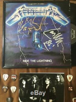 METALLICA signed autographed LP album James Lars Kirk Cliff Rare Must See PSA