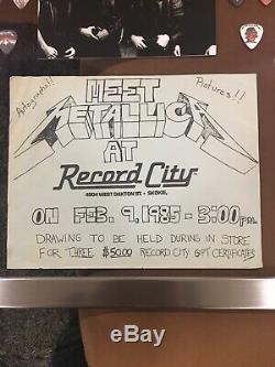 METALLICA signed autographed LP record album James Lars Kirk Cliff Rare Must See