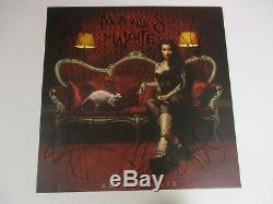 MOTIONLESS IN WHITE AUTOGRAPHED SIGNED VINYL ALBUM With SIGNING PICTURE PROOF