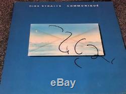 Mark Knopfler DIRE STRAITS Signed Autographed COMMUNIQUE Record Album LP