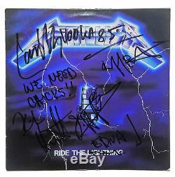 Metallica Autographed X4 Signed Record Album LP