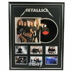 Metallica Hand Band Signed Framed Album Record Hetfield Urlich No Tickets