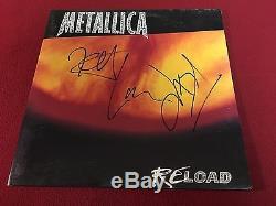 Metallica Re Load Signed Vinyl Lp Album X3 Kirk Hammett Lars Ulrich Proof