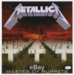Metallica band signed autographed Master of Puppets album promo! JSA LOA