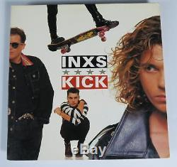 Michael Hutchence INXS Signed Autograph Kick Album Vinyl Record LP by All 6