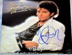 Michael Jackson Hand Signed Autographed Original Thriller Album! Rare Proof+coa