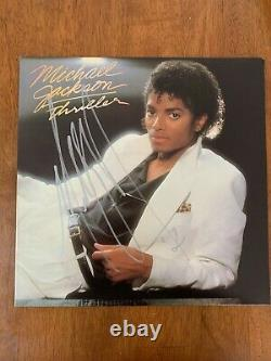 Michael Jackson Hand Signed Autographed Thriller Album Certified Authentic Coa