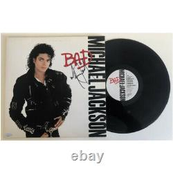 Michael Jackson Hand Signed Framed Bad Vinyl Album Record Certificate