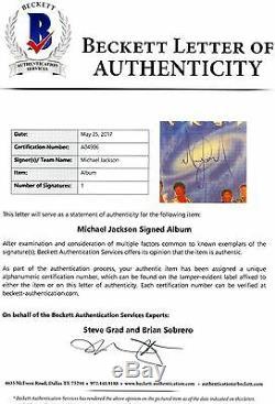 Michael Jackson Signed Autographed Jackson 5 Victory LP Album BAS BECKETT LOA