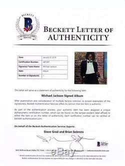 Michael Jackson Signed Autographed Off The Wall Album LP Beckett BAS