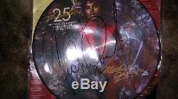 Michael Jackson Signed Thiller 25 Year Lp Album