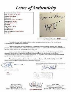 Mick Jagger Rolling Stones Signed Beggars Banquet Album Cover w Vinyl JSA Z73594
