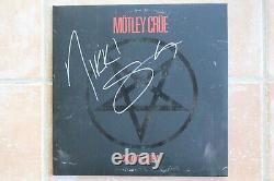 Motley Crue Shout At The Devil Album Signed Autographed By Nikki Sixx The Dirt