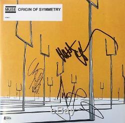Muse Autographed Signed Origin Of Symmetry Bas Coa Record Album