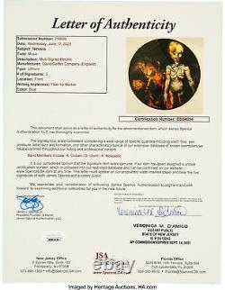 Nirvana Kurt Cobain, Grohl & Novoselic Signed Lithium Vinyl Album JSA #BB84654