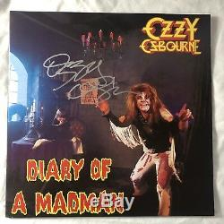 OZZY OSBOURNE Autographed SIGNED Diary Of A Madman Record Vinyl Album LP withCOA