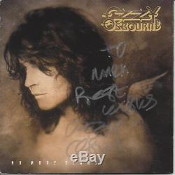 Ozzy Osbourne No More Tears Signed Autographed CD JSA COA