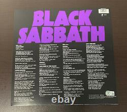 Ozzy Osbourne Signed Black Sabbath Master Of Reality Album Vinyl Lp Auto Beckett