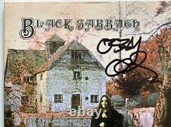 Ozzy Osbourne signed black sabbath album 1st lp beckett witnessed coa