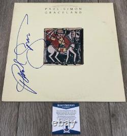 PAUL SIMON SIGNED AUTOGRAPH GRACELAND VINYL ALBUM withPROOF & BECKETT BAS COA
