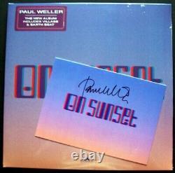 PAUL WELLER'ON SUNSET' PEACH DOUBLE VINYL ALBUM SIGNED CARD sealed the jam