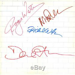 Pink Floyd Band Signed The Wall Autographed Album Signed Rare Coa Included