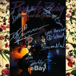 PRINCE SIGNED ALBUM PURPLE RAIN FULL BAND SIGNED COA AND ALBUM INCLUDED TOUGH