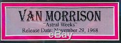 PSA/DNA Astral Weeks VAN MORRISON Autographed Custom FRAMED LP Record Album