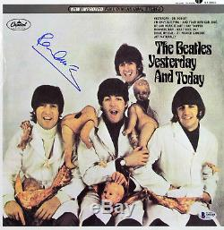 Paul McCartney Beatles Signed Yesterday & Today Album Cover With Vinyl BAS #A10240