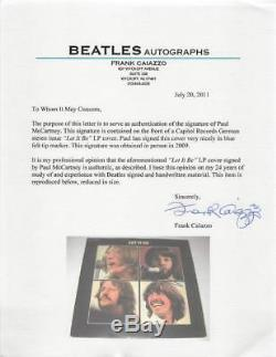 Paul Mccartney Let It Be Signed Album Cover With Vinyl Caiazzo & PSA Graded 10